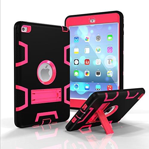 Fizze Schutzhülle für iPad Mini, iPad Mini 2, iPad Mini 3, dreilagig, Polycarbonat und Silikon, stoßfest, stoßfest, mit Standfuß für iPad Mini 1/2 / 3 Generation