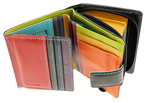 ladies-soft-leather-wallet-purse-credit-card-holder-with-coin-purse-holds-8-cards-black-multi-colour