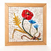 Mosaico Quattro Stagioni Estate - Kit quadro fai da te - 23x23 cm - tessere mosaico marmo/vetri di Murano - Idea regalo donna originale