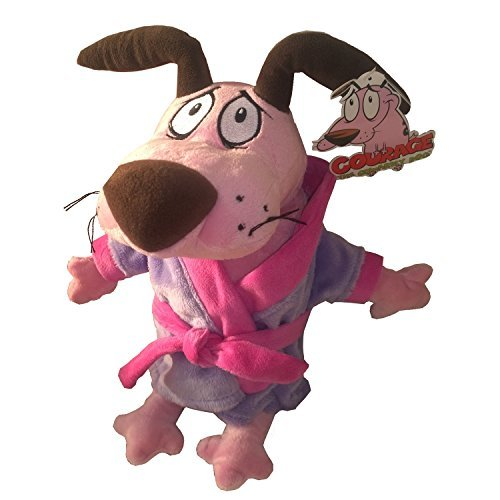 Courage The Cowardly Dog dressed with a Bath Robe Soft Toy Plush 12'' Cartoon Network