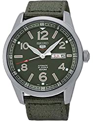 Seiko Herren-Armbanduhr Analog Automatik Textil SRP621K1