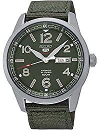 Seiko - SRP621K1 - 5 Sports - Montre Homme - Automatique Analogique - Cadran Vert - Bracelet Tissu Vert
