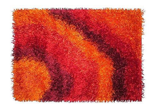Alfombrista Lena Alfombra, Acrílico, Rojo y Naranja, 60 x 120 cm