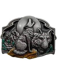 YONE Southwest Howling Leader Wolf Coyote Pack Moon Cowboy Belt Buckle  Boucle de ceinture 9fb7f078fba