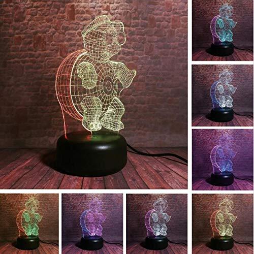 Dianer 7 Farbverlauf Usb Touch Control Nachtlicht Niedlichen Cartoon Turtle Brille 3D Led Lampe Kind Kinder Spielzeug Geburtstagsgeschenk Weihnachtsgeschenk Garnieren