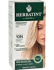 herbatint coloration soin en gel permanante base de plantes teinture blonde platine - Coloration Herbatint