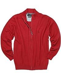 Rote Uni Strickjacke von Casamoda in großen Größen bis 6XL