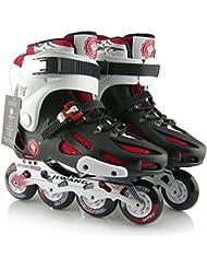 Adulto sola fila profesional deportes patines, negro, 40