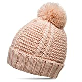 CASPAR MU127 Gefütterte Damen Bommelmütze, Farbe:rosa;Größe:One Size
