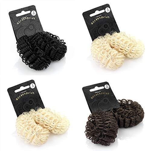 Wholesale Lot de 12 chouchous élastiques pour cheveux blonds et blonds synthétiques