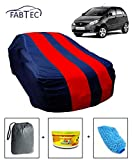 #9: Fabtec Car Body Cover for Tata Indica Vista Red & Blue Colour with Storage Bag + Air Freshener + Microfiber Glove Combo!