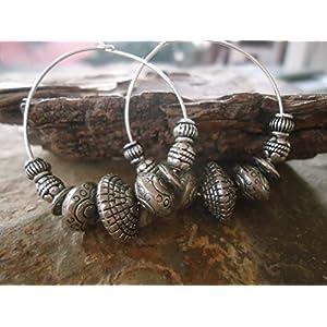 ✿ BOHO TRIBAL CREOLEN ✿ Ohrringe im Bali Stil