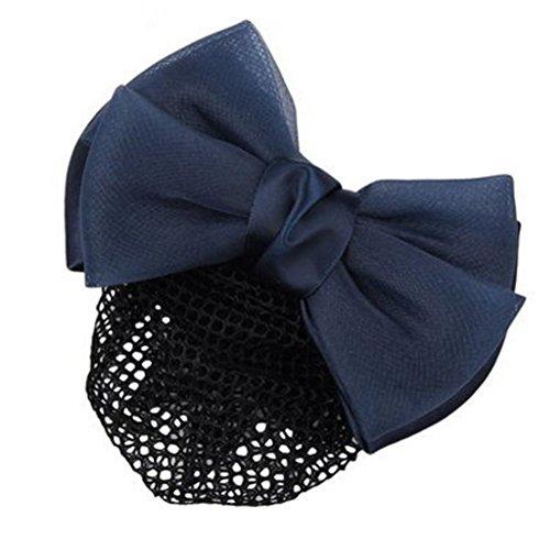 2pcs Bow Tie barette cheveux clip Snood Net coiffure pour les femmes, P