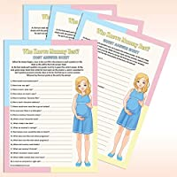 Baby Shower Game - Who Knows Mum Best? (20 Guests)