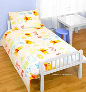 parure de lit b b housse de couette l taie winnie l 39 ourson disney cuisine maison. Black Bedroom Furniture Sets. Home Design Ideas