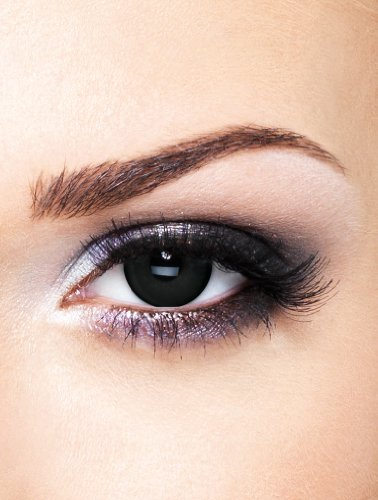Edit farbige Schwarze Kontaktlinsen Crazy ohne Stärke für Halloween und (Kontakte Halloween Schwarz Für)