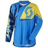 Scott 350 Race Kids Kinder MX Motocross Jersey / DH Fahrrad Trikot blau/gelb...