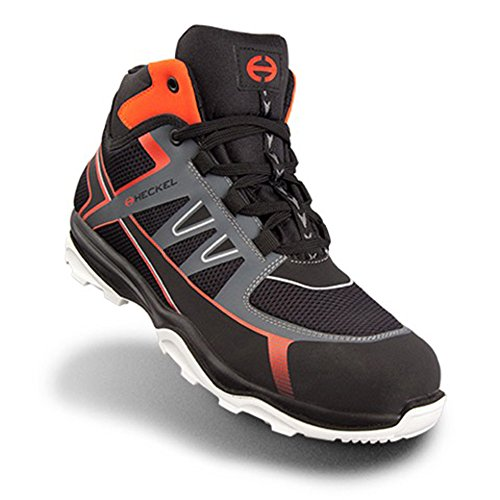 Heckel RUN-R S1P SRC Chaussures de travail / Sécurité chaussure moderne, ultra-léger - 100% métal libre Noir HIGH