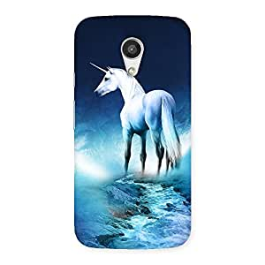 Delighted Unicorn Horse Print Back Case Cover for Moto G 2nd Gen