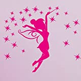 Ambiance-Live Wandtattoo Tinkerbell 1 - 80 x 50 cm, Pink