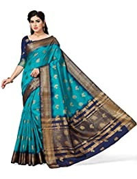 M.S.Retail Silk Saree with Blouse Piece (HM-WAVES-2020-D_Blue_Free)
