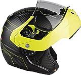 Lazer mle041020fd2s Monaco Evo Droid Pure Carbon Casque Moto Modulaire, noir carbon Matt/jaune fluo, taille xXS