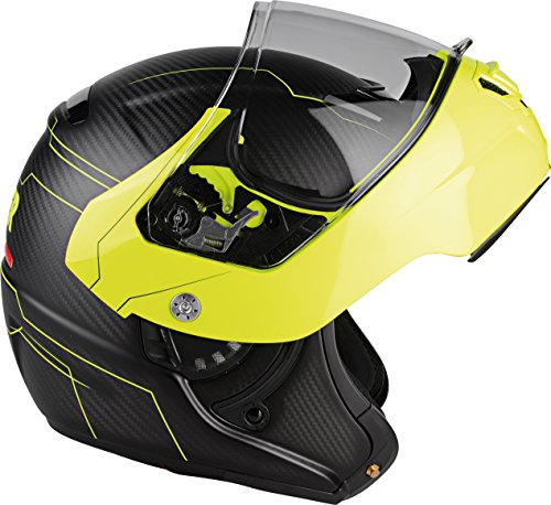 Lazer MLE041020FD2S Monaco Evo Droid Pure Carbon Casco Moto Modular, N