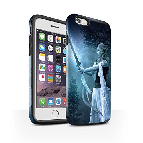 Officiel Elena Dudina Coque / Brillant Robuste Antichoc Etui pour Apple iPhone 6 / Pack 9pcs Design / Super Héroïne Collection Épée Magique