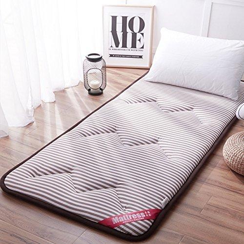 Yellow star Studentenwohnheim futon-matratze Topper,Rollen Feuchtigkeit matratze Anti-rutsch Tatami Boden Matte tragbare schlafen pad Gesteppte Bett Schutz pad-A 90x200cm(35x79inch) (Futon-matratze-abdeckung)