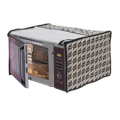 Dream Care Off White Printed Microwave Oven Cover for LG 28 Litre Convection Microwave Oven MC2886BRUM