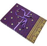 Fair Trade Briefpapier-Set Sari 170 x 230 mm - lila