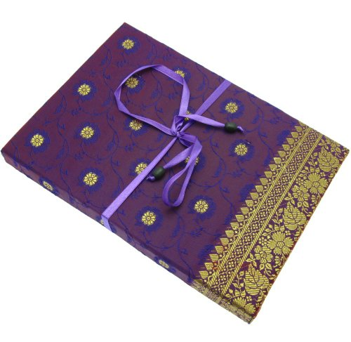 Fair Trade Briefpapier-Set Sari 170 x 230 mm - lila