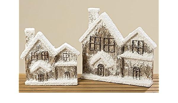 Haus Hauser Mit Schnee 35 Cm 1000675 Weihnachtsdeko