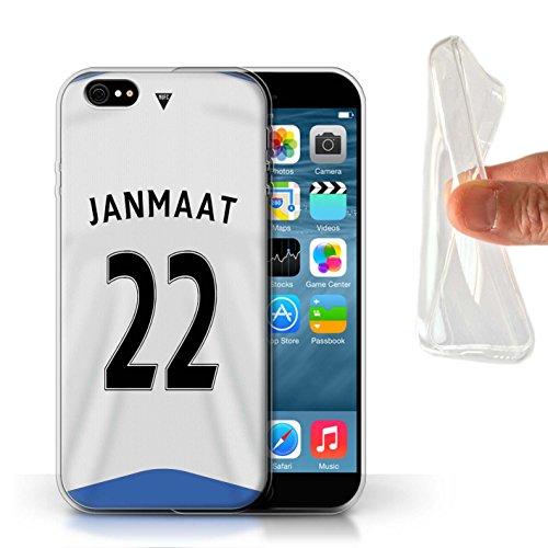 Offiziell Newcastle United FC Hülle / Gel TPU Case für Apple iPhone 6 / Pack 29pcs Muster / NUFC Trikot Home 15/16 Kollektion Janmaat