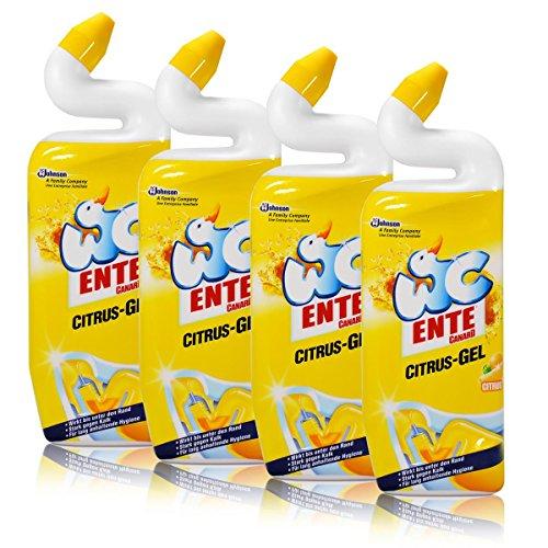 Citrus-gel-reiniger (4x WC Ente Citrus-Gel WC Reiniger Citrus 750 ml)
