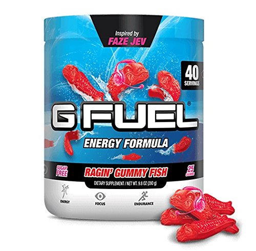 ENERGY | FOCUS | ENDURANCE | REACTION Ramen. Ranting. Realness. Raging. These are the things FaZe Jev is renowned for. But guess what? Now, Mr. Jeverson is known for another thing...HIS VERY OWN G FUEL FLAVOR!!!!!! INTRODUCING...RAGIN' GUMMY FISH!!!!...