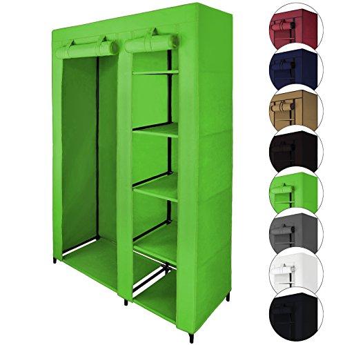 Faltschrank Stoffschrank SMART 110 x 45 x 175 cm von BB Sport, Farbe:Apfelgrün
