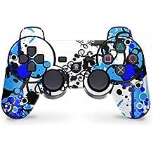 Sony Playstation 3controlador Skin–Diseño Protector de pantalla adhesivos Juego de moldeado para PS3controlador, Simple Blue