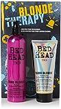 Tigi Limited Edition Dumb Blonde Shampoo & Reconstructor intensive Tiefenpflege für blondes und aufgehelltes Haar Geschenkset-Vorteilspack (400 ml+200 ml)