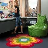 4124-75 Teppich Handtuft Arte Espina Blume Trendy Line 150 cm Rund