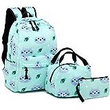 """BLUBOON Große Mädchen' Rucksack für Schule Bookbag Set Wasserdicht Laptop Lässige Daypack 11.8""""X6.7"""" x17.3"""" Cat-Wasser-Blau"""
