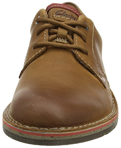 Clarks Edgewick Plain, Derby Homme Marron (Tan Leather)
