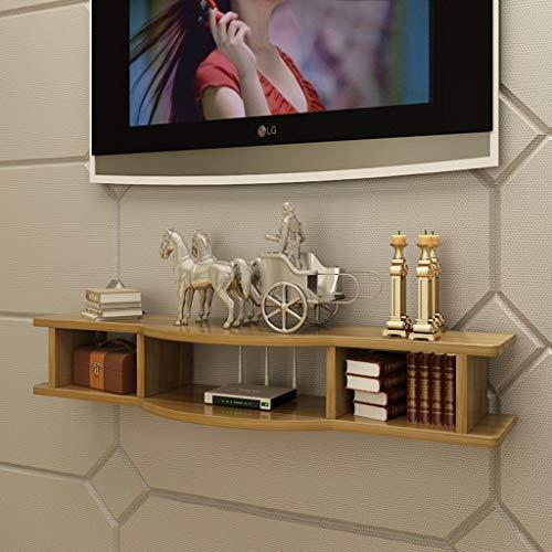 SjYsXm-Wand Bücherregal Regal Wandhalterung Schwimmendes Regal Halterung Stand zum W-LAN Router TV-Box Set Top Box Redner Streaming-Gerät Spielkonsole (Farbe : A, größe : 100cm) (Tv-wandhalterung W Dvd-halterung)