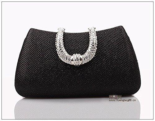 Europa Und Die Vereinigten Staaten, Mode, Exquisite, Diamond, Abendessen Tasche, Hand - Tasche black