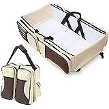Multifuncional 3 en 1 bebé cambiando bolsos cambiadores Viaje cama cuna portátil bolsa plegable bolsa de la compra de pañales cambiador de bolsa Baby Crib Carrycot