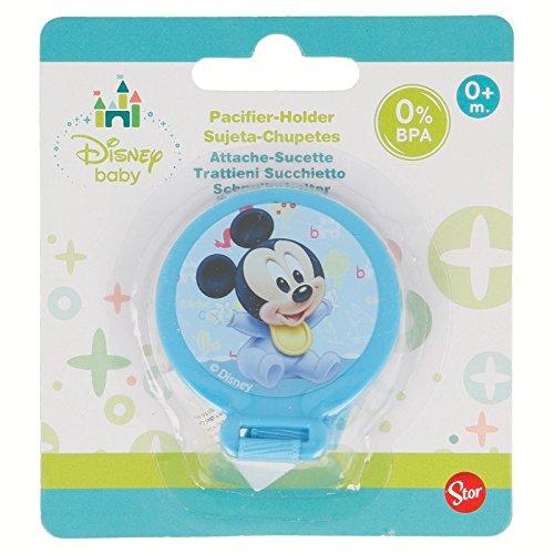Générique - Attache Sucette Tututte Mickey Disney Baby Bleu 0% BPA - Bebe Tetine Cadeau Naissance - 232