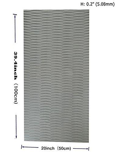 Toogou DIY Traction rutschfester Griff Matte Pad (39.4in x20in), vielseitig und trimmable (EVA, Standup Paddel für die, die, die, die Surfboards, Kayaks, Boot, Schiff, für SUP-Boards, Skimboards und mehr, grau