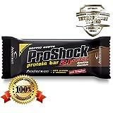 24 Barrette proteiche Anderson Proshock da 60g con 21g di Proteine Whey + 8 Vitamine (Doppio Cioccolato) Confezione formato risparmio Pro Shock