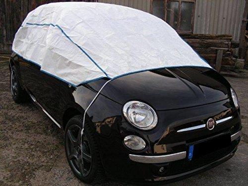 Preisvergleich Produktbild Halbe Autoabdeckung atmungsaktiv extrem leicht für FIAT UNO in weiß Exclusiv aus Tyvek incl. Lagerbeutel