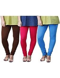 Limeberry Women's Cotton Legging Pack of 3 (LB-3PCK-LEGG-CMB-7_Multicolor)
